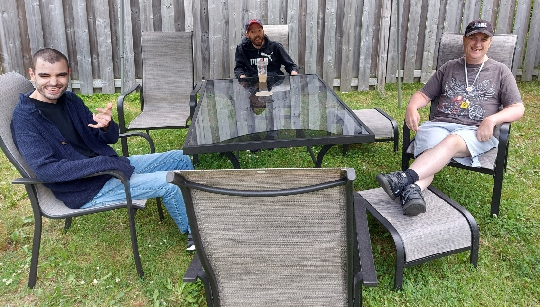 People Supported hanging out with new patio set empower simcoe