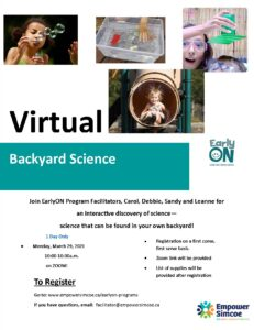 Backyard Science program