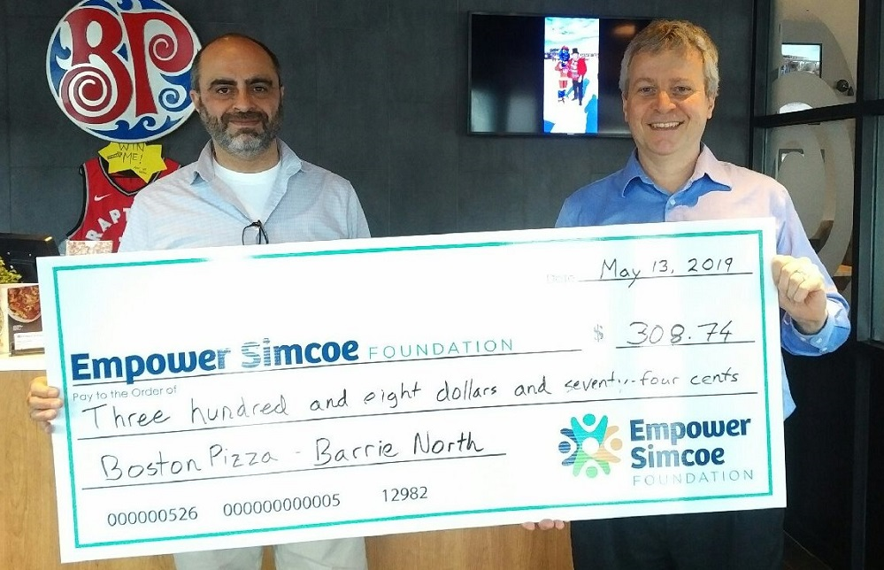 Boston Pizza Barrie Empower Simcoe