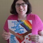 Emily Holding Homemade Card