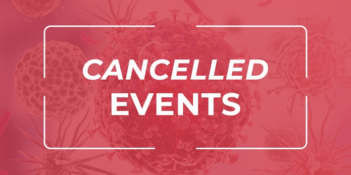 A list of cancelled events due to covid-19