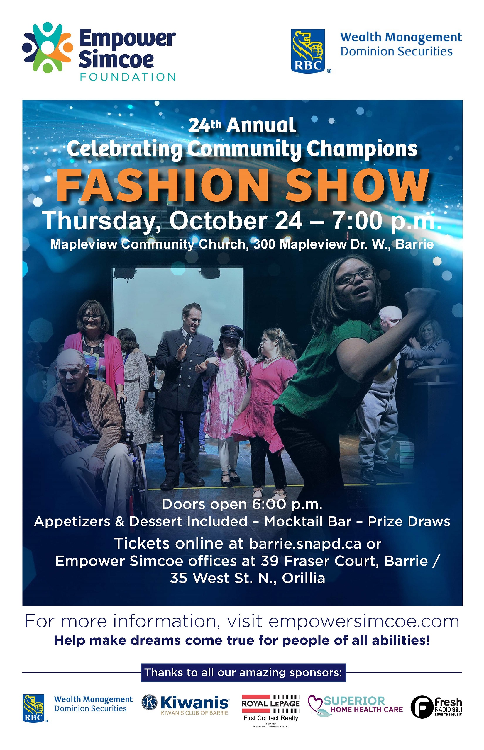 Barrie Fashion Show Poster Empower Simcoe