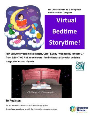 Virtual Bedtime Storytime poster