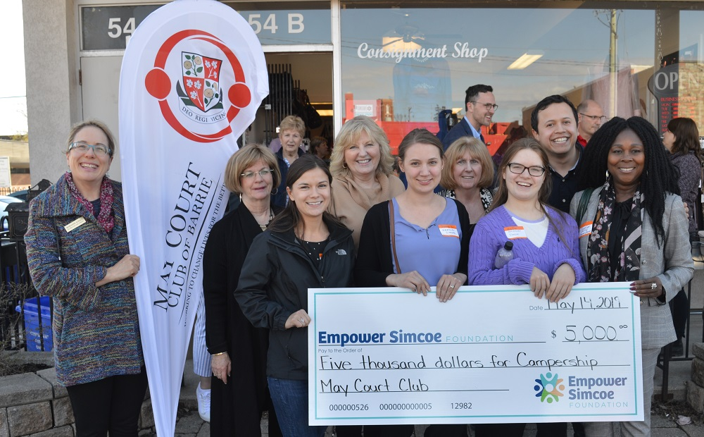 Maycourt Club of Barrie Empower Simcoe