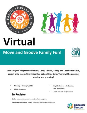Family Day Virtual Event Poster
