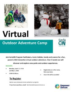EarlyON Outdoor Adventure Camp Poster