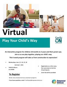 Play your childs way poster