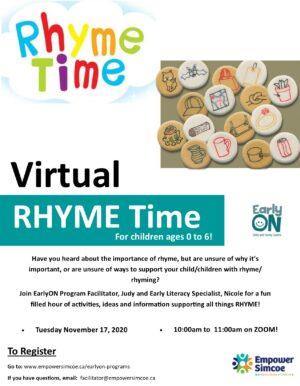 Virtual Rhyme Time Poster