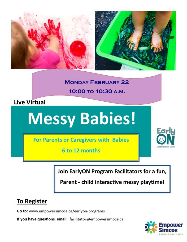 Virtual Messy Babies Feb Poster