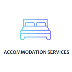 Accommodation Services Link - Multi colored bed