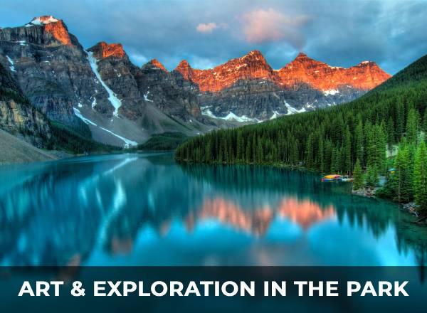 colorful national park scene
