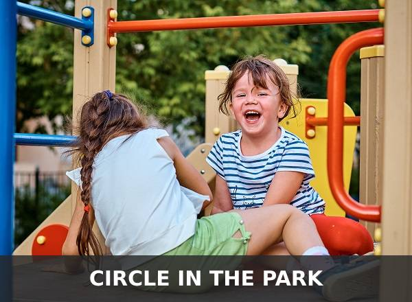 kids laughing in the park