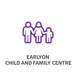EarlyON Child & Family Centre - Clip art image of parents and child