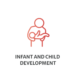 Infant and Child Development - Clip Art of parent holding baby