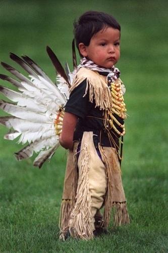 Little Boy Celebrating Powwow