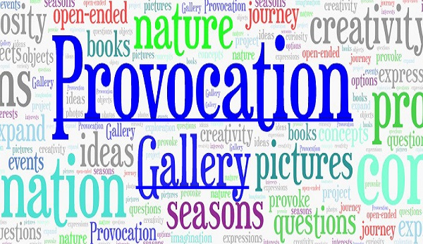 provocation gallery wordle